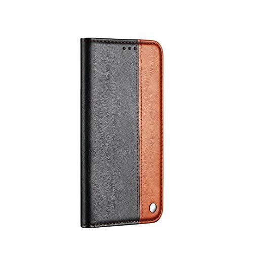 FHXD Compatible con Funda Xiaomi Redmi 6 Pro PU Cuero Flip Wallet Cover Caso con Soporte Plegable y Ranura para Tarjetas Anti-Shock Cubierta-Marrón