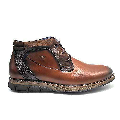 FLUCHOS - Bottes en cuir avec lacets, semelle en caoutchouc, fabriquées en Espagne, pour homme - Beige - Camel, 41 EU EU