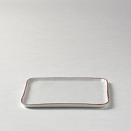 Lambert 21399 Piana Teller Weiß Rand Rot D 21x21 Cm