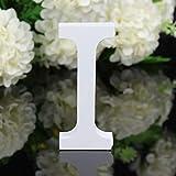 Alaso Décoratif Bois Lettres,26 Alphabet Blanc Lettres en Bois pour Déco Nom des Enfants Fête d'anniversaire de Mariage Décoration de Maison et de Chambre à Coucher