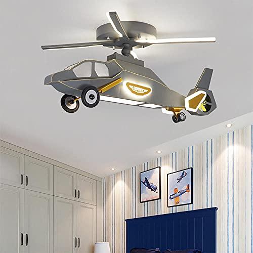 QEWR Luz de techo LED con ventilador, luces de ventilador de techo velocidades de viento de tercera marcha, luz de atenuación continua, iluminación de ventilador moderna para sala de estar