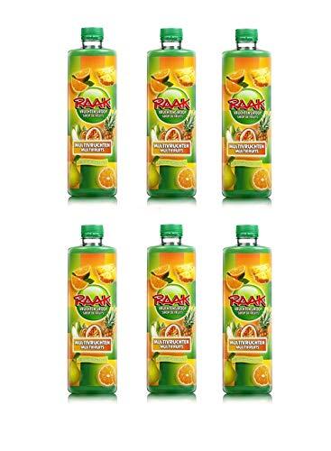 6 x Raak vruchtensiroop multivruchten - Getränke-Sirup Multi-Fruit (6 x 0,75L)
