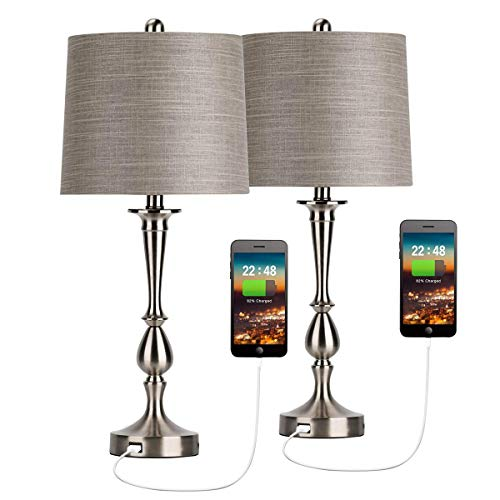 Oneach USB Table Lamp Set of 2 M...