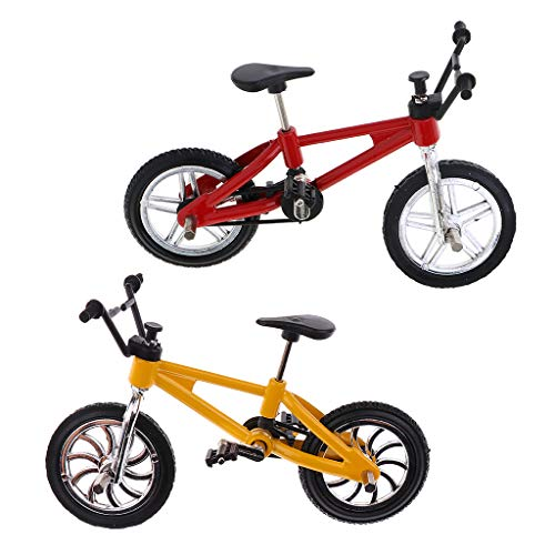 lahomia 2 Piezas de Aleación de Bicicleta de Montaña Modelo Bicicleta de Dedo Cool Boy Toy