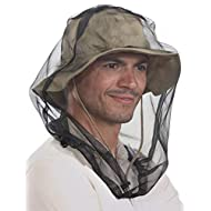 Mosquito Head Net Mesh - Bug Face Netting for Hats - Insect Net Mask Cover from Gnats, No-See-Ums & Midges with Extra Fine Fly Screen Holes - Outdoor Protection/Shield for Men & Women. Chemical Free