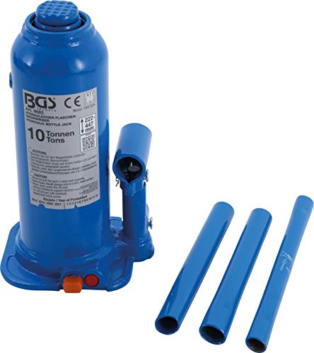 BGS 9885 | Hydraulischer Flaschen-Wagenheber | 10 t | Stempelwagenheber / Kompakt-Wagenheber