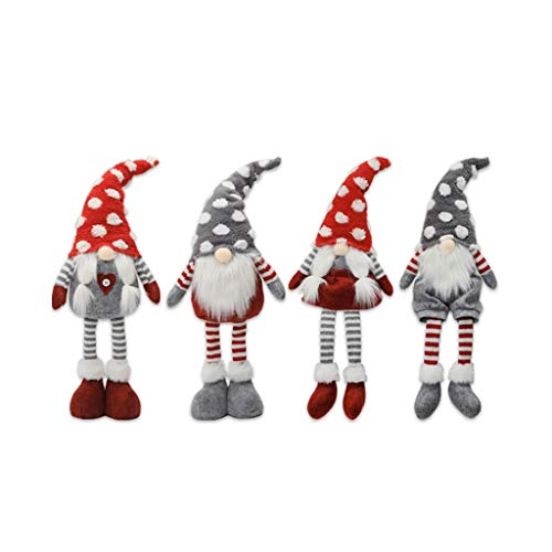 DIAOD 4Pcs Striped Faceless Doll Nordic Wind Forest Old Man Ornaments Christmas Doll Ornaments Christmas Decorations