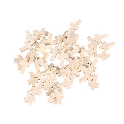 HEALLILY 50 colgantes de cruz de madera para hombres y mujeres, accesorios...