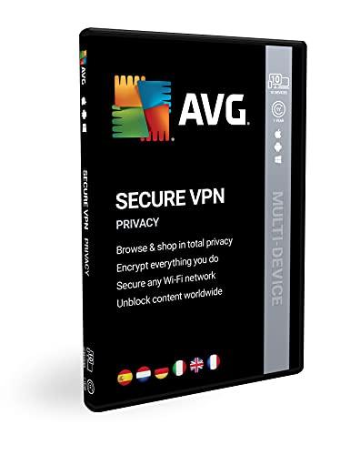 AVG Secure VPN Multi-dispositivo | 10 dispositivi | 1 anno | Licenza | Box
