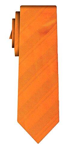 Cravate soie unie stripe IV orange in orange