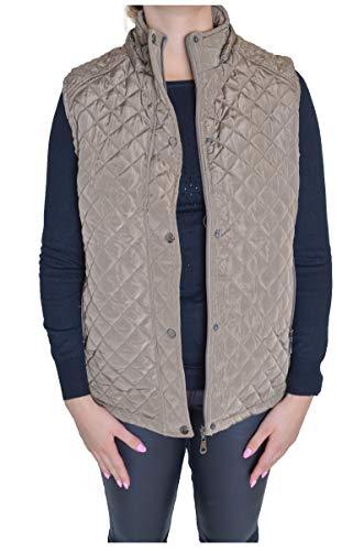 Fashion Thirsty Chaleco de invierno acolchado con capucha y cremallera para mujer