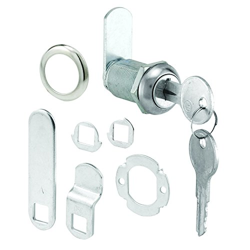 "Defender Security U 9945 Cabinet Lock Secure Important Files and Drawers, 1 1/8"", Diecast Stainless Steel, Fits on 13/16"" Max Panel Thickness, Pack of 1"