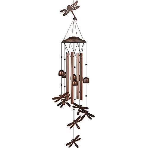 B ozhiwei HANGHANG Windspiel Libelle Einzigartiges Outdoor mit 4 Aluminium-Röhren beruhigende Melodie Windspiel für den Außenbereich