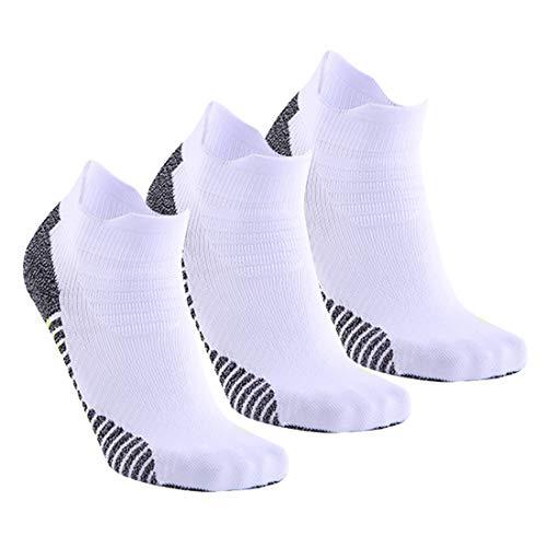 Zhhlinyuan Chaussettes de Course Homme Femme de 3 Paires Coton Sport Socquettes Respirant Antidérapantes Courtes Chaussettes de Randonnée