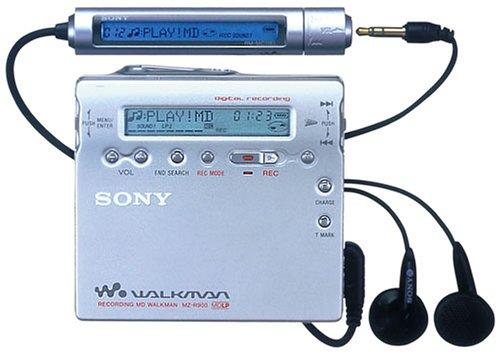 Sony MZ-R900/S tragbarer MiniDisc-Rekorder Silber