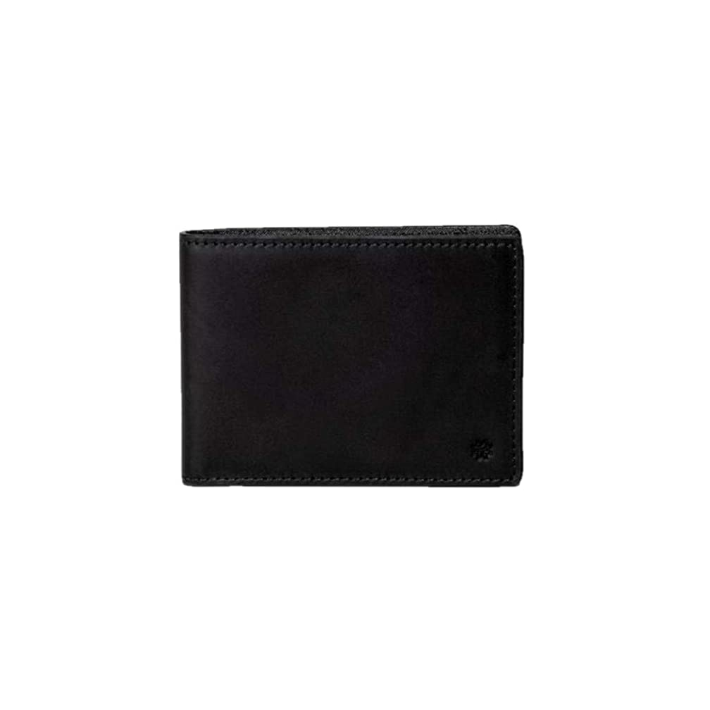 Hook & Albert Mens Black Traditional Leather Bifold Wallet
