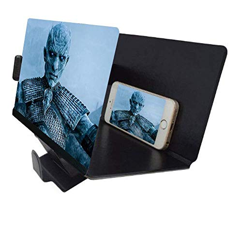 Universal portátil Arrugas Smartphone 3D Screen Magnifier para Todos los Tipos de Smartphones. Lupa de Aumento para Pantalla de Smartphone con Efecto 3D. Negro.