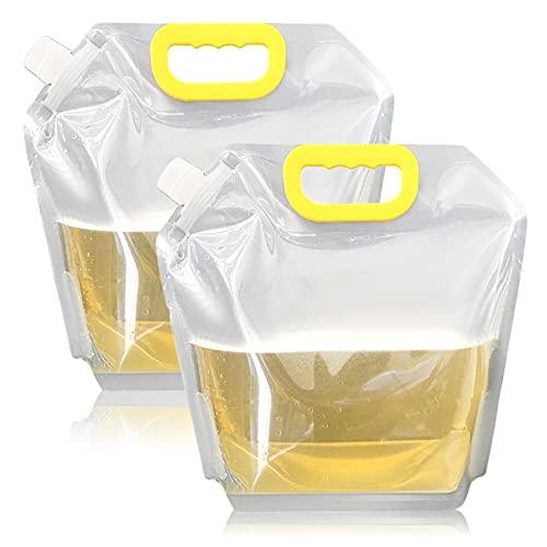 CMOISO Hopfällbar vattenbehållare, hopfällbar vattenväska, 2 st vikbar försluten och hållbar dricksvattenbehållare för utomhusfordon för sport camping vandring picknick BBQ (10 L)