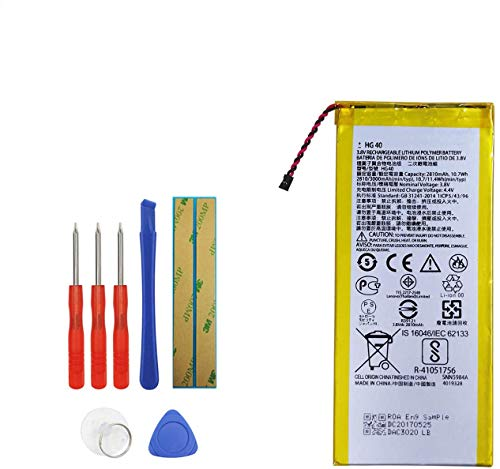 E-YIIVIIL HG40 Replacement Battery Compatible with Motorola Moto G5 Plus XT1684 XT1685 XT1687...