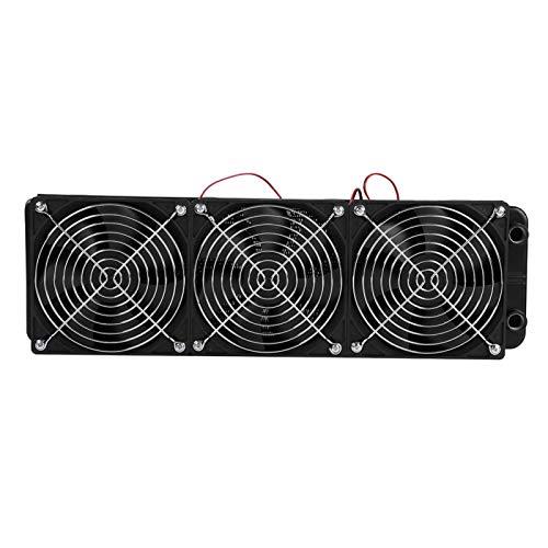 Radiador de escape de calor roscado G1 / 4 con ventilador, radiador portátil de refrigeración por agua de CPU de 18 tubos, ventilador de radiador de CPU de metal duradero para caja de PC(360 mm)