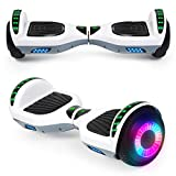 """SISIGAD Hoverboard with Bluetooth Speaker and Led Lights, Smart 6.5"""" Self-Balancing Electric Scooter for Kids and Teenagers"""