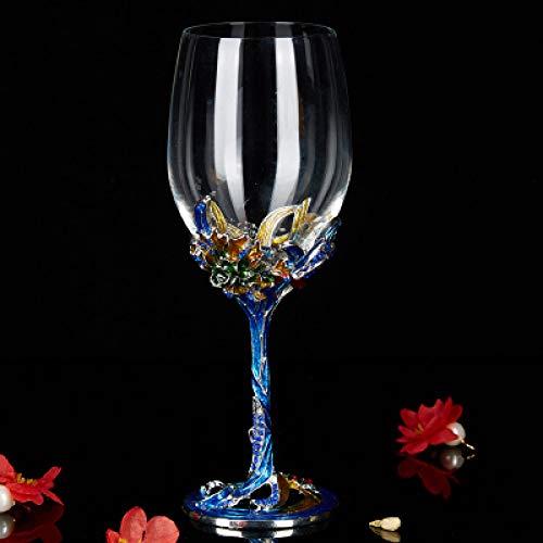 RONGXIANMA Copa de Vino Cristal Champagne Copa de Vino Tinto Esmalte de pie Alto