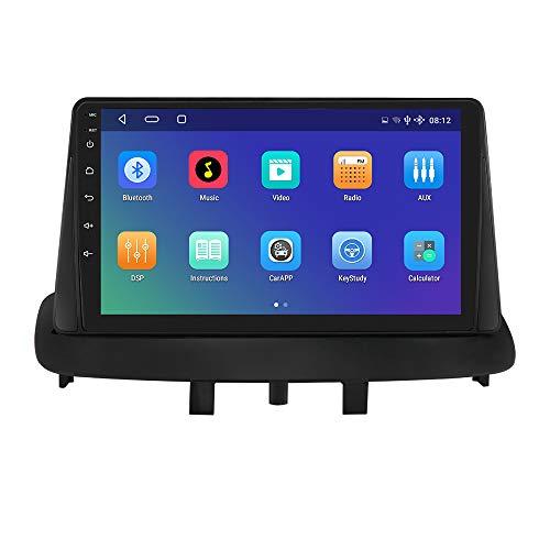 Android 10 Autoradio para Renault Megane 3 2008-2014 Renault Megane 3 Radio GPS Navegador Control del Volante Bluetooth WiFi 4GLTE DSP Dab+ Entrada de Vista Trasera USB con Decodificador Canbus