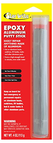 Star Brite 087004 Epoxy Aluminum Putty Stick, 4 Ounce (Pack of 1)