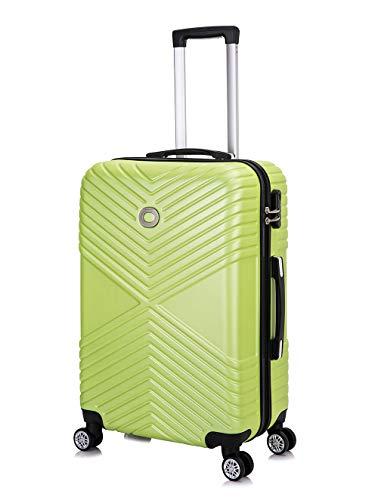 Frentree 302 handbagage | koffer met harde schaal | trolley koffer, 4 rollen M-L-XL-set, appelgroen (g. groen) (groen) - 302G.GN-L_afn