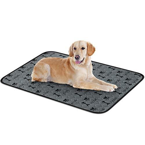 Trainingsunterlagen für Hunde -3 Größen Wasserdicht Pee Pads, Waschbare wiederverwendbar schnell absorbierend, Unterlage für Welpenurin für Haustiere und Welpen, für Welpen/Hunde/Katzen (L)