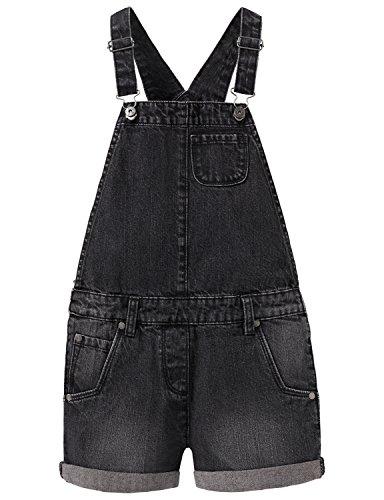 Schiesser Mädchen Fashion Blog Latzhose Overall, Grau (Dunkelgrau 205), 116 (Herstellergröße: 6Y)