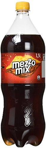 Mezzo Mix, Einzigartiges Mischgetränk aus Cola & Orange in praktischen Flaschen, EINWEG (4 x 1,5 Liter)
