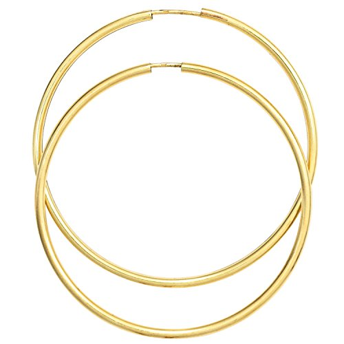 JOBO Damen-Creolen groß aus 333 Gold Durchmesser 50 mm