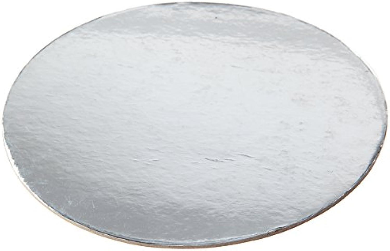 W PACKAGING WPDC10S 10  Silver Kraft Die Cut Cake Circle (Pack  of 100)