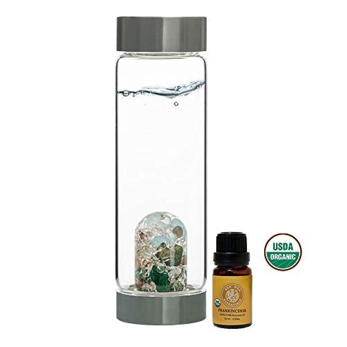 文献火山学昨日VitaJuwel Gem Water Bottle ViA - Forever Young w/Free Organic Frankincense Essential Oil [並行輸入品]