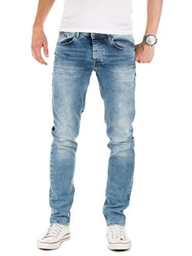 WOTEGA Herren Jeans Alistar Slim fit - Denim Hose Männer Jeanshose Stretch - Used Look, Blau (Forever Blue 164019), W33/L30