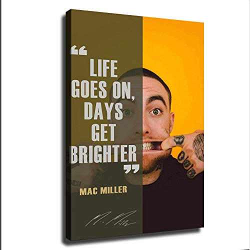 Mac Miller Posters HD Canvas Print Home Decor Painting Wall Art Picture (12x18inch,Wooden Framed)