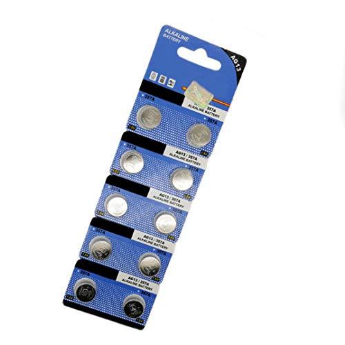 Cotchear 10 Pcs Ag13 Lr44 Sr44 L1154 A76 Lr1154 Button Battery