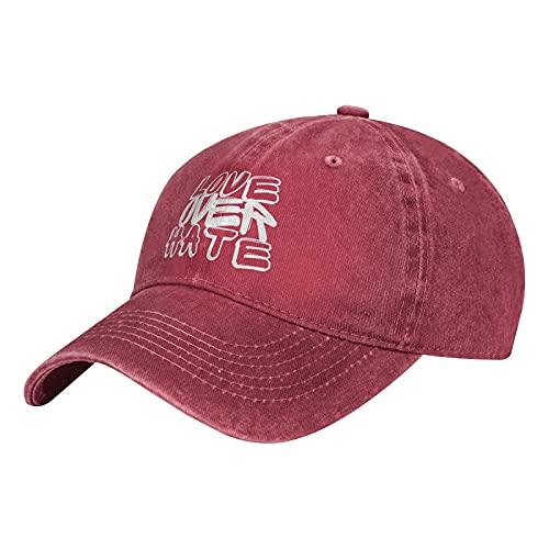 Love Over Hate - Gorra de béisbol cristiana, ajustable, lavable, para papá, sombrero de golf