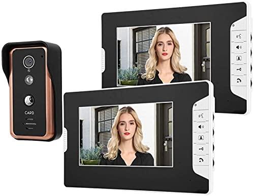 GDEVNSL Intercomunicador de Alto Rendimiento 7in 2V1 Monitores Videoportero con Cable, con