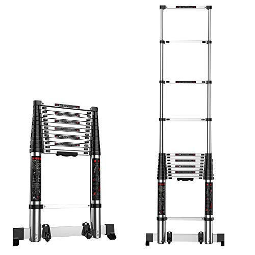BLWX LY-Step kruk Telescopische Extension Ladder Uitschuifbare Aluminium Ladders Uitbreiding Draagbare Extension Ladder voor Outdoor Indoor Builder DIY Jobs Gebruik