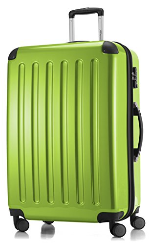 HAUPTSTADTKOFFER - Alex - 4 Doppel-Rollen Großer Hartschalen-Koffer Koffer Trolley Rollkoffer Reisekoffer, TSA, 75 cm, 119 Liter, Apfelgrün