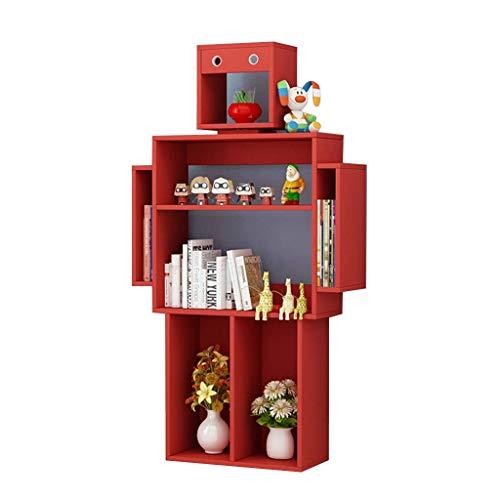 JLL Madera de estantería for niños, estantería Robot for el Dormitorio, Vitrina de Libros for niña/niño, librería móvil, gabinete de Libro Cuadrado (Tamaño: 55 * 30 * 10 pulg.)