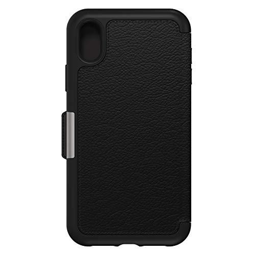 OtterBox 77-59922 für Apple iPhone XR, Premium Folio-Schutzhülle aus Leder, Strada Serie, Schwarz