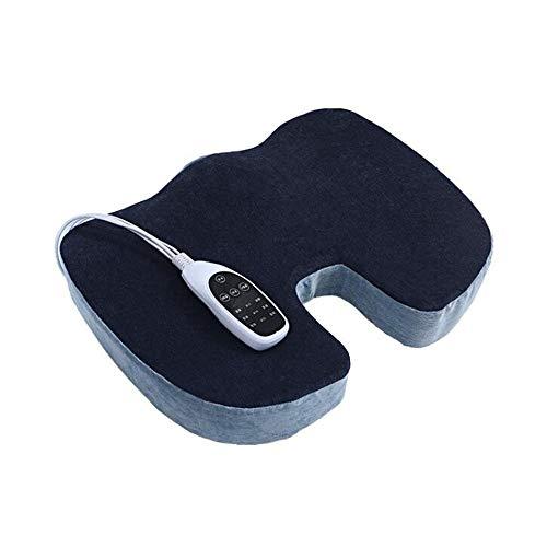 FUFU Decken Elektrische Heizkissen, Memory-Foam-Sitzkissen Orthopädisches Kissen für Rückenschmerzlinderung - mit 9-Gang-Einstellung für Bürostuhl Autositz-Rollstuhl für alle Jahreszeiten