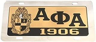 Alpha Phi Alpha Fraternity License Plate Car Tag For Front Back of Car Divine 9 (Car Tag - 7705)