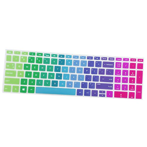 MagiDeal Silicone Desktop Keyboard Skin Cover For HP 15.6 Inch BF Laptop Rainbow