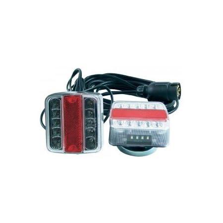 JKMM Luci di Traino per Rimorchio a LED Magnetiche 12V Luci di Coda Posteriori Luci per Rimorchio a LED per Cavi di Arresto Cavo per Auto a Sinistra E Destra