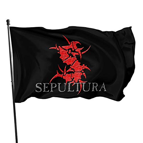 NOT BRAND ChenMingGao Home Decoration Sepultura Garden Flag Indoor Outdoor Flag 3x5 FT Taille Unique Noir