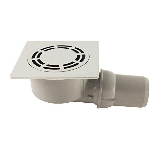 - Siphon de sol - Siphon de sol laiton chromé Solusec 120x120 mm - sortie horizontale
